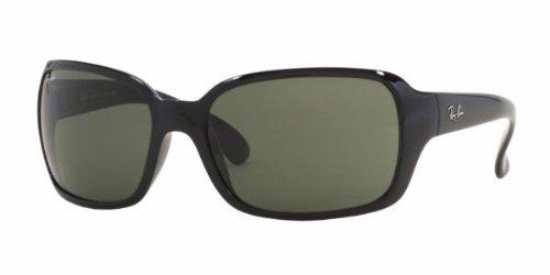 Ray Ban Sunglasses RB 4068 601 Glossy Black/Crystal Green, - Ray Ban Cats Polarized