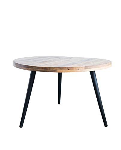 (Bloomingville Round Metal & Mango Wood Dining Table,)
