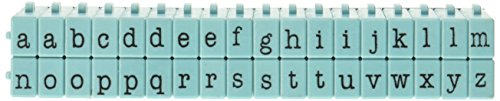 Contact USA Lower Alpha Medium 36ct Pegz Connectable Alphabet Stamp Set, Tiffany Blue ()