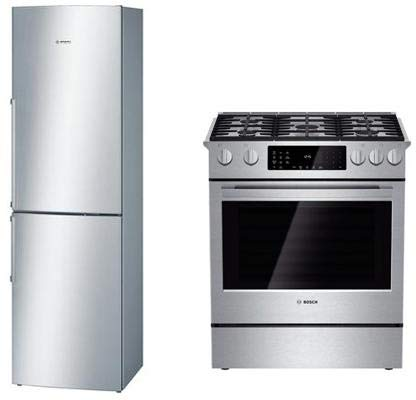 Bosch 2 Piece Stainless Steel Kitchen Package With B11CB81SSS 24