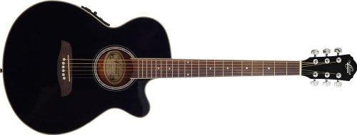 UPC 801128501871, Oscar Schmidt OG8CE Folk-Size Cutaway Acoustic-Electric Guitar - Black