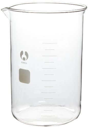 American Educational Clear Borosilicate Glass 4000mL Bomex Griffin Beaker (Griffin Bomex Beakers)