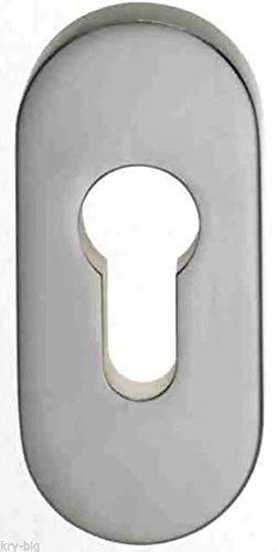 drehbar links auf Oval Rosette und PZ Rosette Edelstahl T/ürknauf Zylinderform