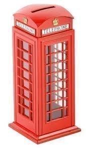 Druckguss-Sparbüchse traditionelle englische Telefonzelle, Rot
