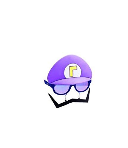 Super Mario Bros. Purple Waluigi Sun-Staches - Waluigi Costume For Women