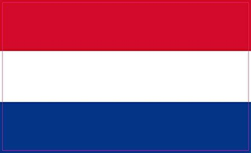 StickerTalk 5x3 Dutch Flag Sticker Luggage Cup Decal Car Win