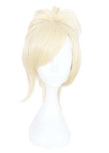 KUKI SHOP Cosplay Wig blond Wavy Panytail Hair Heat Resistant Halleween Wigs Costume Party for Women ()