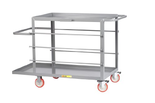 Little Giant RC2448-5PYTL Electrician's Bulk Handling Wire Reel Cart with Five Spool Holder Rods and 5