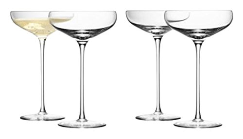 Not Coupe (LSA International Wine Champagne Saucer (4 Pack), 10.1 fl. oz., Clear)