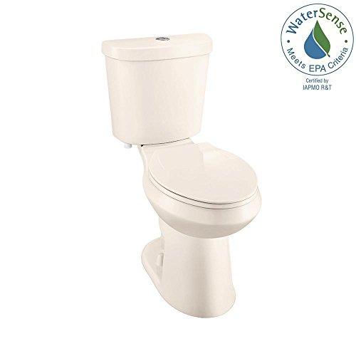 (Glacier Bay 2-piece 1.1 GPF/1.6 GPF High Efficiency Dual Flush Elongated Toilet in Bone)