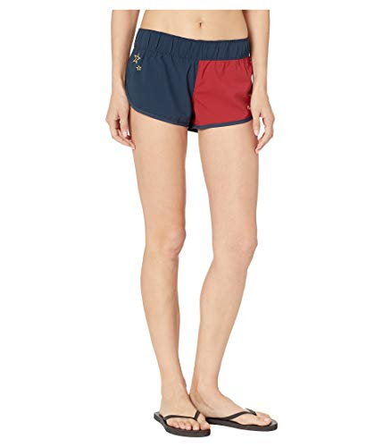 Hurley Women's Apparel Women's Supersuede Stars Beachrider Board Shorts, Armory Navy, S
