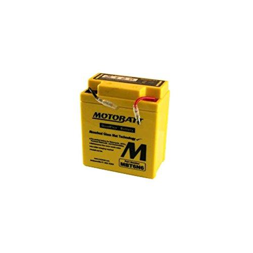MotoBatt – Reserveaccu voor motorfiets MBT6N6 6 V – 6 Ah vervangt 6N6-3B