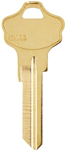 Kaba Ilco KW10-BR Kw10 Kwikset Key Blank (Pack of 50) - Kw10 Key Blank