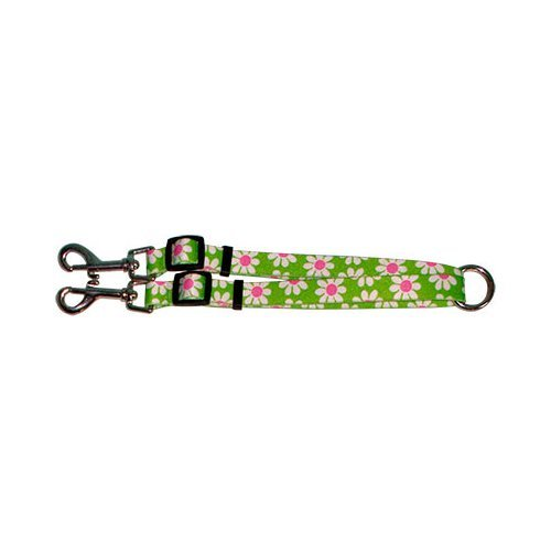 M Yellow Dog Design Coupler Lead, 3 4-Inch, Green Daisy