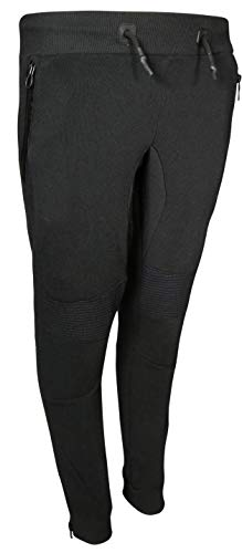 XS Sport Boys Moto Fleece Jogger Zipper Pockets, Black, Size -