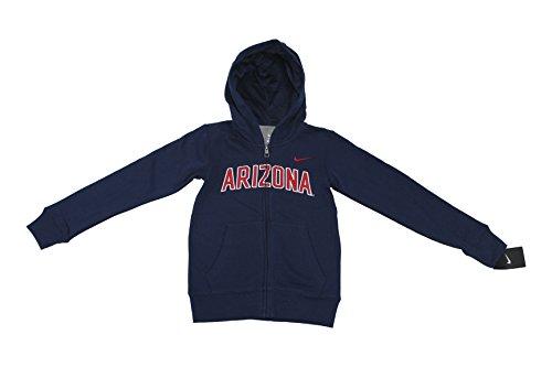 Nike NCAA Boy's Arizona Wildcats School Sweat Shirt Jacket Hoodie (Nike Arizona Wildcats)