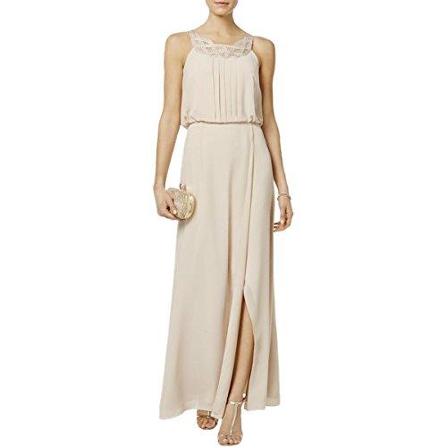 - Jessica Howard Womens Embellished Braided Evening Dress Beige 16