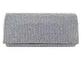 CB059 Royal Blue - Fully Diamante Evening Clutch Bag