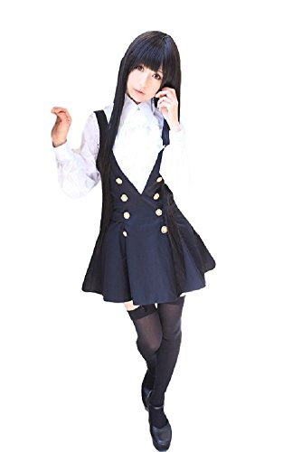 SSJ Shirakiin Ririchiyo Cosplay Costumes Girl's School Uniform Japanese Anime (Anime Teen Costumes)