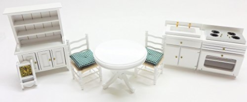Melody Jane Dollhouse White Kitchen Dining Furniture for sale  Delivered anywhere in USA