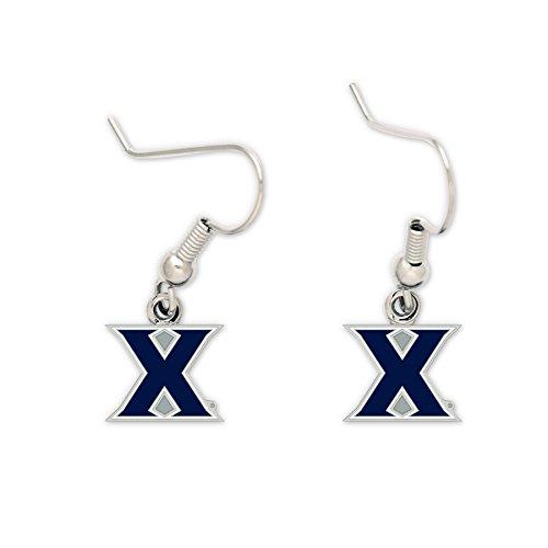 (WinCraft Xavier Musketeers Earrings - J Hook - NCAA)