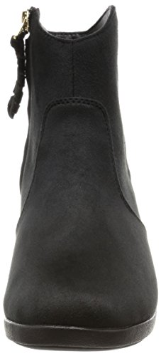 Crocs Leigh Synth Suede Wedge Bootie Black
