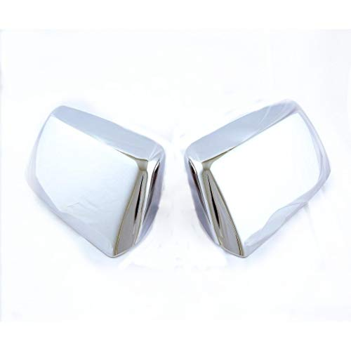 eLoveQ Chrome Plated Replacement Mirror Covers Fits 2015-2019 Chevy Suburban/Tahoe ()