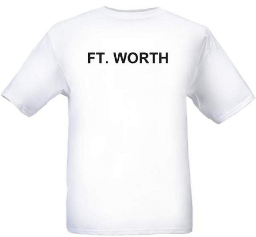 FT. WORTH - City-series - White T-shirt - size XXL