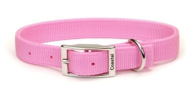 Coastal Pet Products DCP290122PKB Double Dog Collar, 1 by 22-Inch, Bright Pink