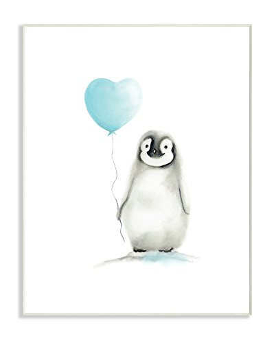 - Stupell Industries Baby Penguin with Blue Balloon Wall Plaque Art, 10 x 0.5 x 15, Proudly Made in USA