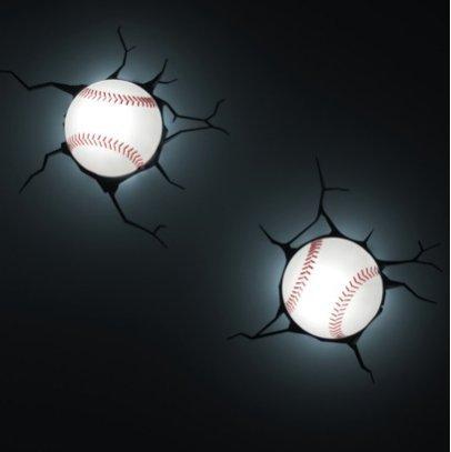 3D Wall Art Kids Nighlight - Baseball