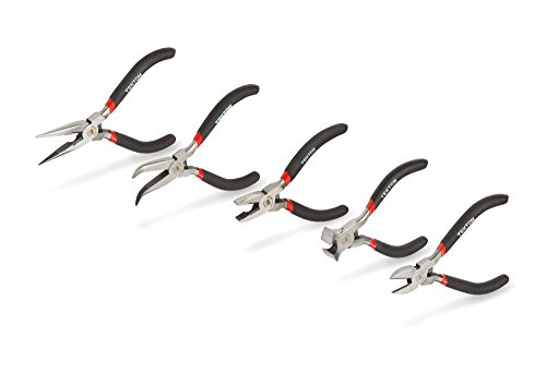 TEKTON 3592 Precision Pliers Set, 5-Piece - Mini Pliers Set