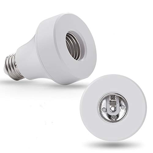 WiFi Smart Light Bulb Socket Bulb Adapter Base Converter E26 Lamp Holde Plug Works with Alexa and Google Home Assistant Phone APP Remote Control Your Fixtures From Anywhere 1/pack