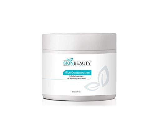 2 oz Micro DermaBrasion Cream with Glycolic Acid & MicroDermaBrasion Aluminum Oxide Crystals-for Face Use -120 grits, Pure White Micro Derma Brasion Crystals-Acne Wrinkles, Dull - Microdermabrasion Aluminum Oxide
