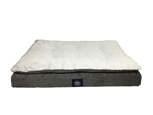 Serta Ultra Pillowtop Pet Bed, Grey