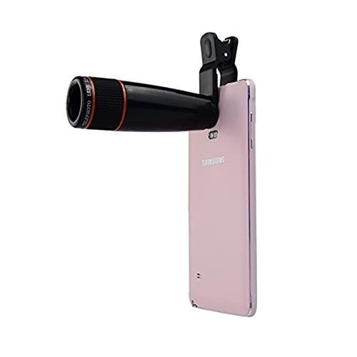 Tygot Syvo Universal 12X Zoom Mobile Phone Telescope Lens with Adjustable Clip Holder (Black)