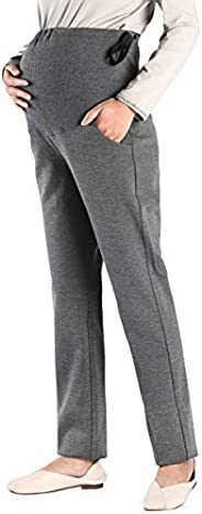 Foucome Womens Maternity Bootcut Stretch Career Dress Pants Work Office Over-Bump Trousers