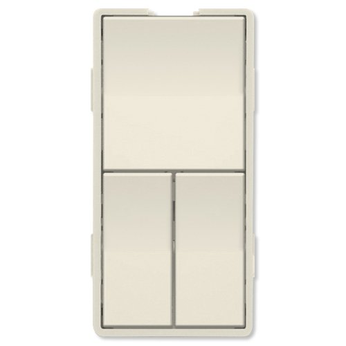 Simply Automated UPB Faceplate, Triple Rockers, Light Almond (ZS23-LA) (Triple Faceplate)