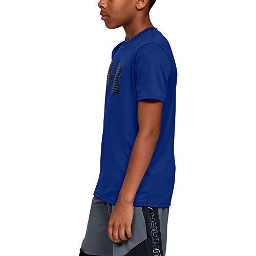 Tech Big Logo Solid Boys Short-Sleeve Shirt