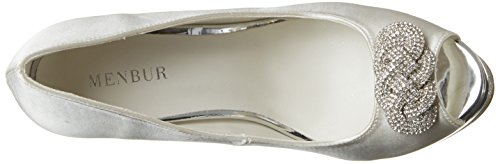 Menbur Wedding Leila - Zapatos Mujer Marfil (Ivory)