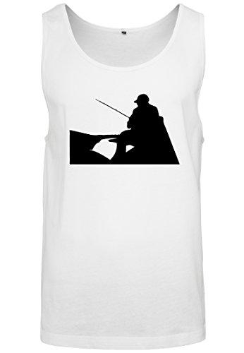 Canotta T da pescatore uomo Canotta Big Canotta senza bianca shirt maniche Muscoli Tank rrnqBC