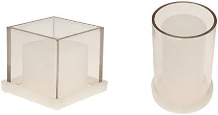 キャンドル金型 円筒形 正方形 中空 プラスチック 手工芸品 キャンドル作り 2個入り