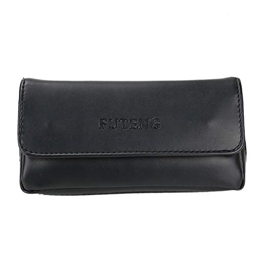 HUELE Leather Smoking Tobacco Pipe Pouch Case Bag for 2 Pipes Tamper Filter Tool Pipe Pocket Tool