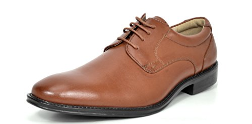 Bruno Marc London Menns Klassisk Moderne Oxfords Runde Tå Wingtip Komfort Blonder Spenne Tilfeldige Sko 2-brown