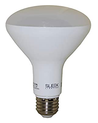 "SleekLighting BR30 LED 8 Watt""Dimmable"" Wide Flood Light Bulb 65 Watt Equivalent,(110°)"
