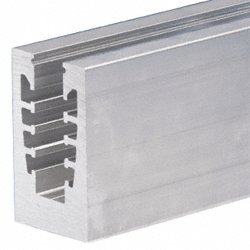 Mill Aluminum 240'' B5G Series Square Base Shoe Facial Mount Drilled