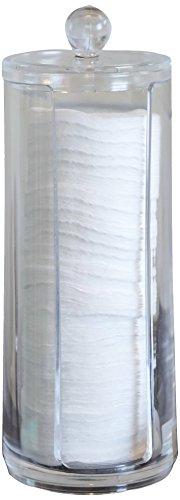 Fantasia Wattepad-Ständer mit Deckel, Acryl, leer, Höhe 20.5 cm (1 x 1 Stück)