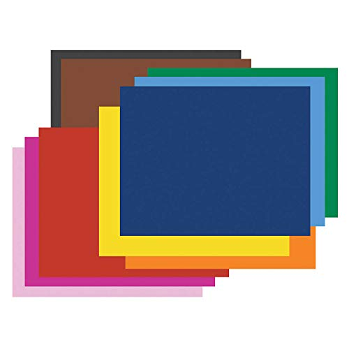 "Pacon PAC54872 4-Ply Railroad Board, 10 Assorted Colors, 22"" x 28"", 50 Sheets"