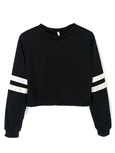 joeoy-womens-casual-striped-long-sleeve-crop-top-sweatshirt-black-s