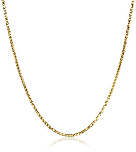 14k Yellow Gold Italian 1.50mm Popcorn Chain Necklace, 16